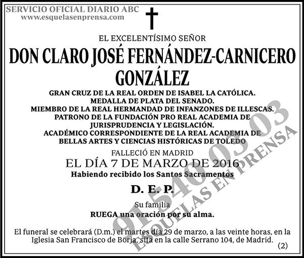 Claro José Fernández-Carnicero González
